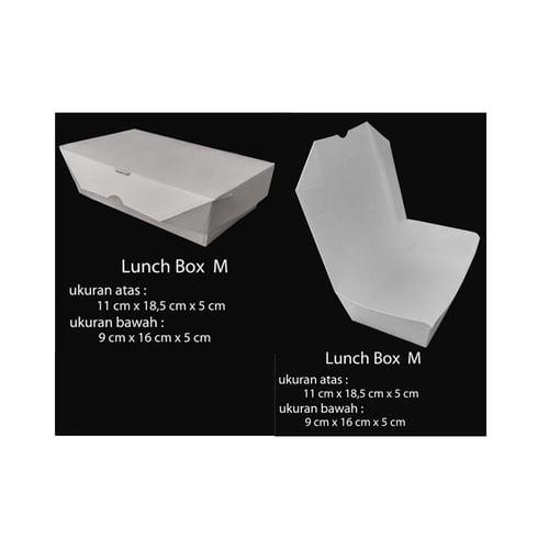 Paper Box Lunch Uk M - Paper Take Away  100 PC