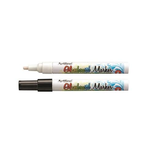 ARTLINE Glassboard Marker Mix Black and White 2pcs