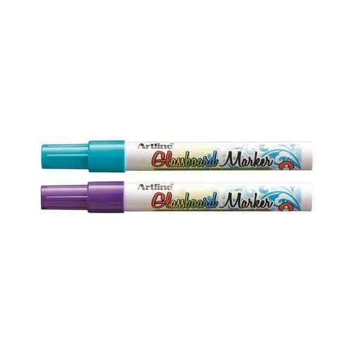 ARTLINE Glasboard Marker Mix Blue Violet 3pc