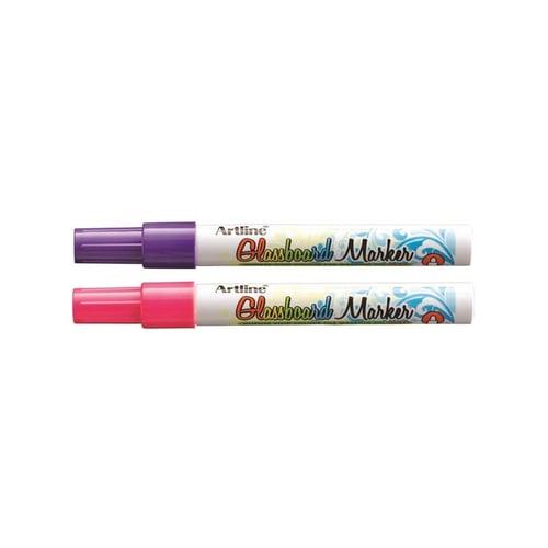 ARTLINE Glassboard Marker Mix Pink Violet 3pc