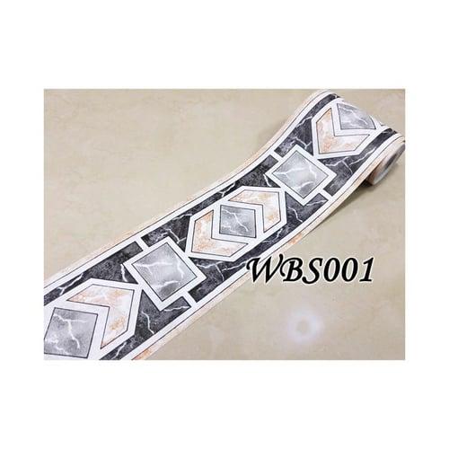 Square Diamond Wall Border Sticker 10mx10.5cm WBS001 Black