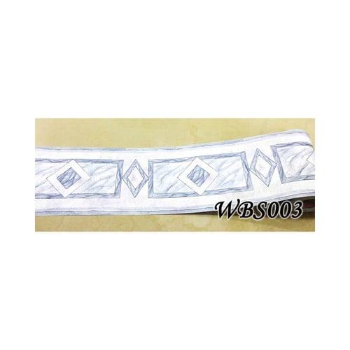 Square Diamond Wall Border Sticker 10mx10.5cm WBS003 Grey