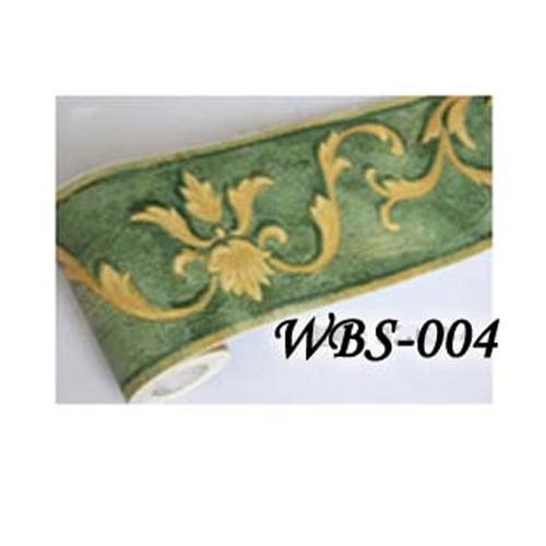 Vector Wall Border Sticker 10mx10.5cm WBS004 Green N Gold