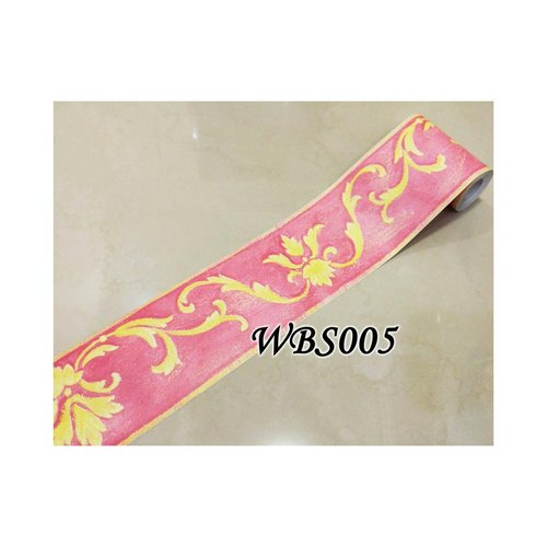 Vector Wall Border Sticker 10mx10.5cm WBS005 Pink N Yellow