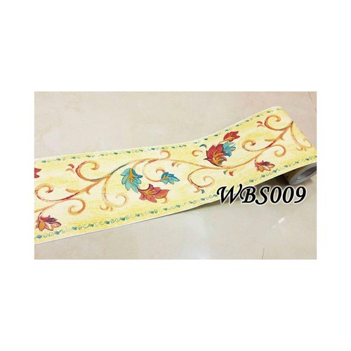 Flower Wall Border Sticker 10mx10cm WBS009 Brown N Red