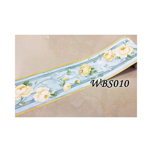 Flower Wall Border Sticker 10mx10cm WBS010 Blue N Yellow