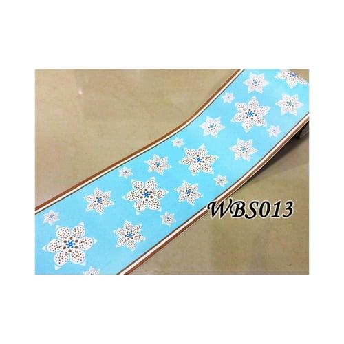 Flower Wall Border Sticker 10mx10cm WBS013 Blue N Cute