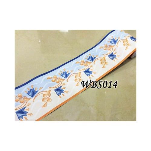 Blue Cream Up Down Wall Border Sticker 10mx10cm WBS014