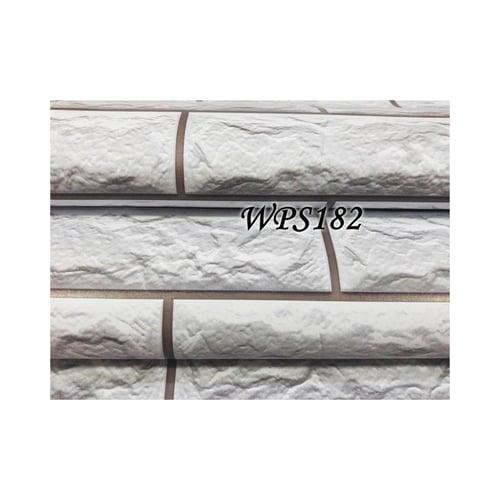 Wallpaper Sticker 45cmx5m WPS182 Soft Grey Stone Brick