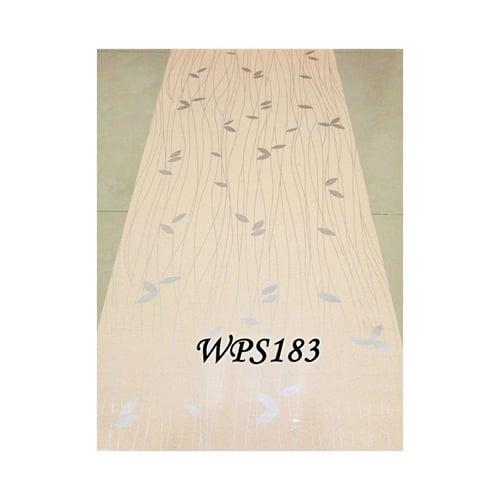 Wallpaper Sticker 45cmx5m WPS183 Cream N Silver Leaf
