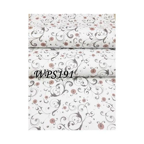 Wallpaper Sticker 45cmx5m WPS191 White N Vector With Little Flower