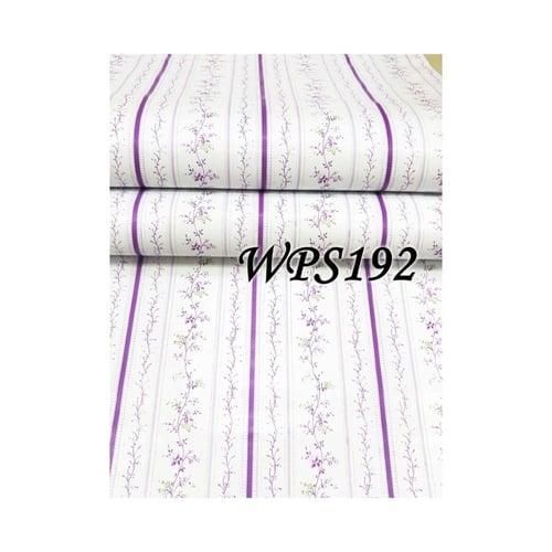 Wallpaper Sticker 45cmx5m WPS192 Purple List With Purple Flower