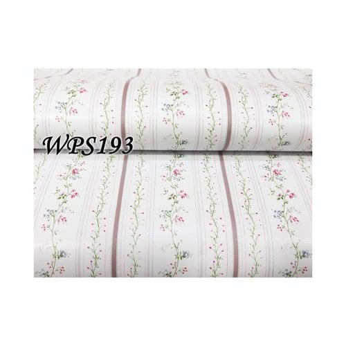 Wallpaper Sticker 45cmx5m WPS193 White List With Pink Flower