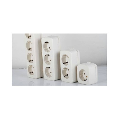 Stop Kontak Terminal Lubang 4 Putih + Lampu / Colokan Roll