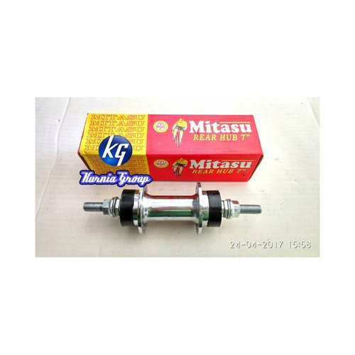 """MITASU Freewheel Rear Hub 7"""" Besi Bearing Belakang 40H Sepeda Ontel"""