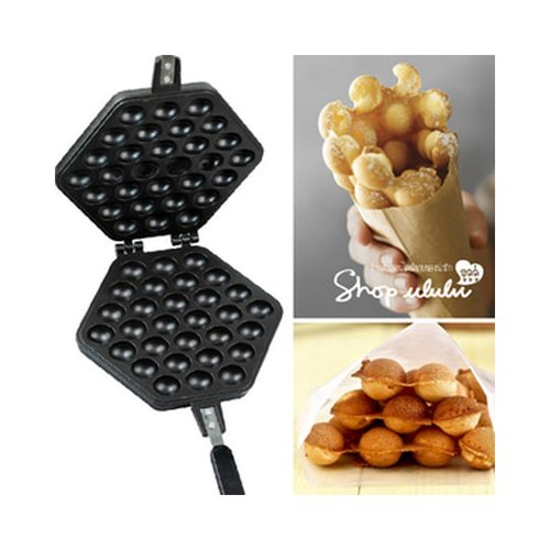 Egg Waffle Maker Cetakan Bapel Hongkong Alumunium Lapis Teflon