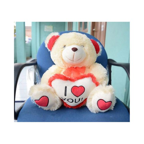 Boneka Teddy Bear I Love You Cream 55 cm