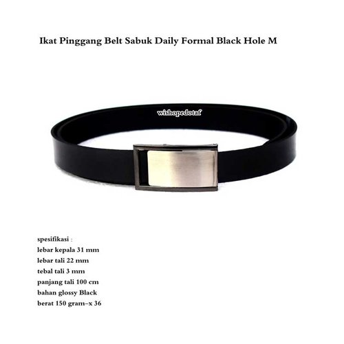 Ikat Pinggang Belt Sabuk Daily Formal Black Hole M