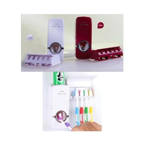 Dispenser Odol - Rak Sikat Gigi Merah
