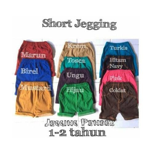 Short Jegging Anak Unisex / Jegging Anak Pendek / Size 2