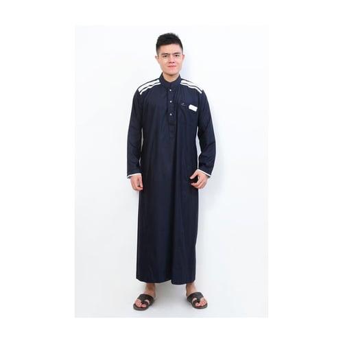 AL-ISRA Jubah Muslim Gamis Pria Cordova Navy