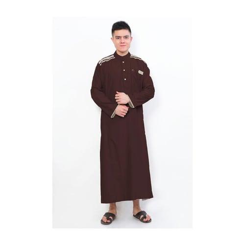 AL-ISRA Jubah Muslim Gamis Pria Cordova Maroon