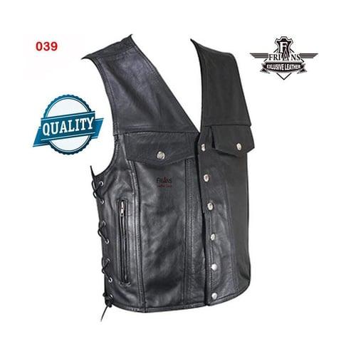 Outwear Rompi Pria Kulit Frianz 039 Hitam