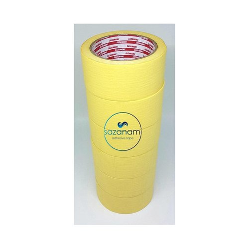 SAZANAMI Lakban Kertas Masking Tape Isolasi Kertas 2 Inch 48mm x 27m