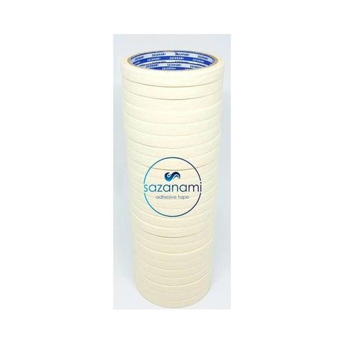 SAZANAMI 2 Lusin Masking Tape Lakban Kertas 12mm 1/2 inch x 15m