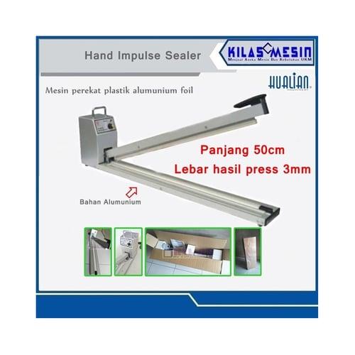 Hand Impulse Sealer Press Perekat Plastik Alumunium Foil