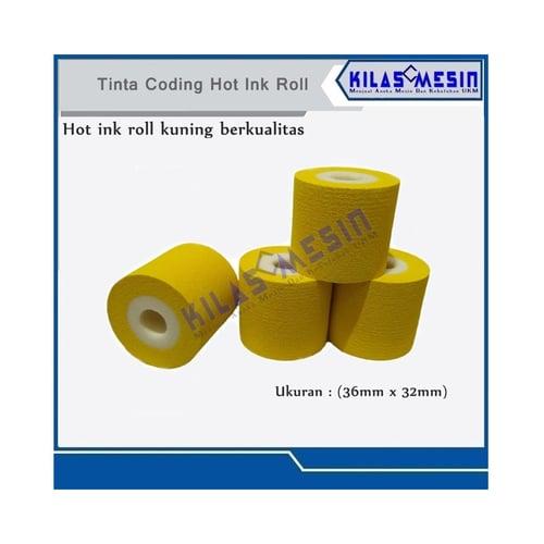 Hot Ink Roll Tinta Coding Kuning Untuk Cetak Expiry Date