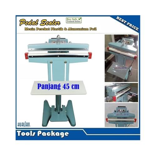 Pedal Foot Sealer Mesin Press Perekat Plastik Alumunium Foil