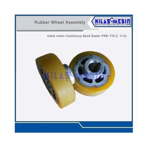 Rubber Silicone Wheel Mesin Continuous Band Sealer