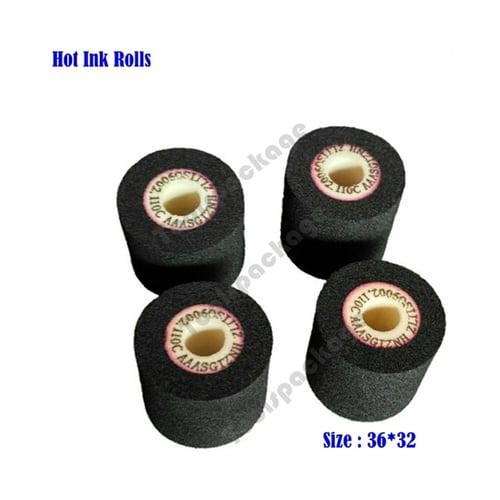 Hot Ink Roll 32 x 36 Hitam Untuk Mesin Coding Expired Date