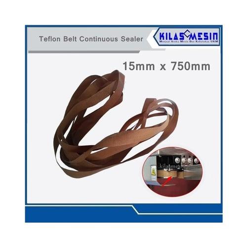 Teflon Belt Sealing Sparepart Mesin Sealer 15 x 750