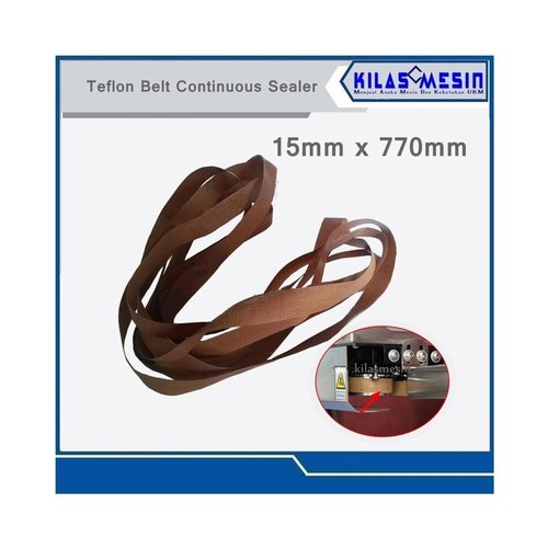 Teflon Belt Sealing Sparepart Mesin Sealer 15 x 770
