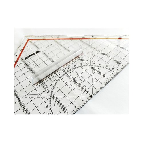 BUTTERFLY Penggaris Teknik Segitiga Pintar (MOR / M+R) 30 cm High Precision
