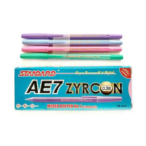 STANDARD Pulpen AE7 Zyrcon 0.38 Delta Tip (1 Pack = 12 pcs)
