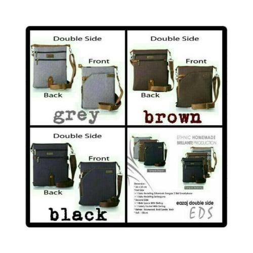 SaShe Store - Brillante EDS Tas Selempang/Sling Bag Pria untuk Smartphone/HP/Tablet