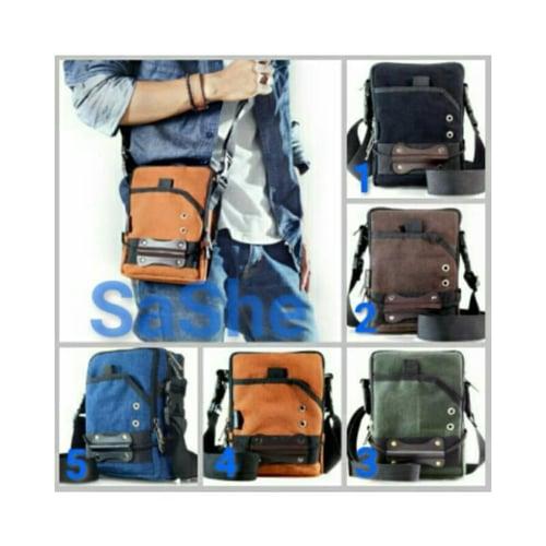 SaShe Store - Tackle Bag Hoozler Tas Selempang/Pinggang Muat HP 7 Inch, Power Bank & Charger