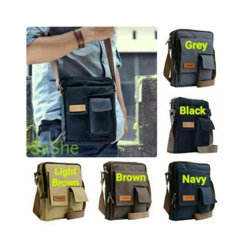 SaShe Store - Vim Bag Hoozler Tas Selempang/Smartphone Pria Muat Tablet 8 Inch, Power Bank