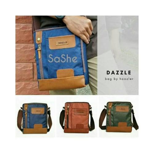 SaShe Store - Dazzle Bag Hoozler Tas Selempang/Sling Pria Muat Tablet 10 Inch, Power Bank & Charger