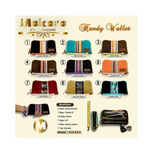 SaShe Store - MAKARA Handy Wallet Dompet Wanita Tali Pendek dengan Motif Etnik