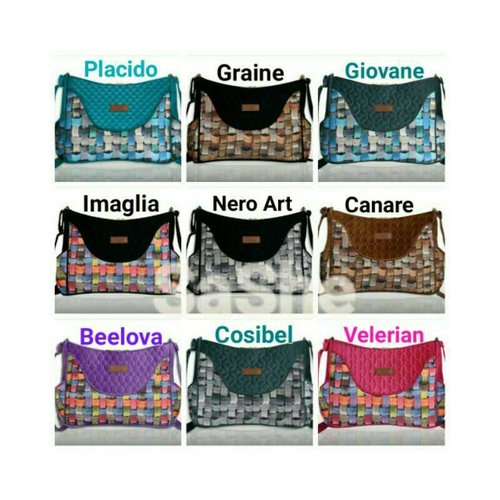 SaShe Store - MAKARA Grande Bag Etnik Tas Selempang Wanita dengan Printing 3D