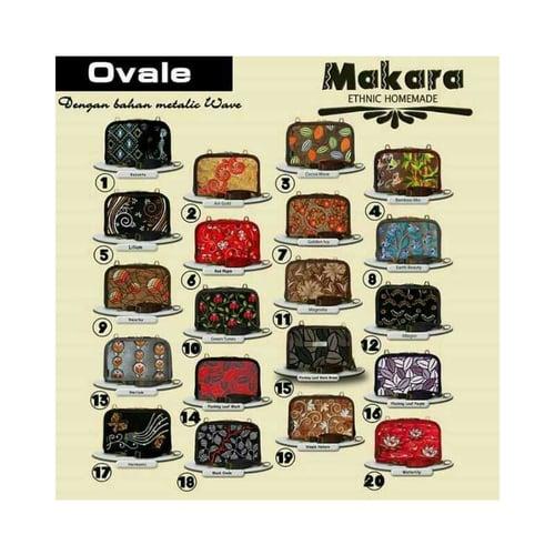 SaShe Store - MAKARA Ovale Tas/Dompet Selempang Wanita muat Tablet 8 Inch dengan Motif Etnik