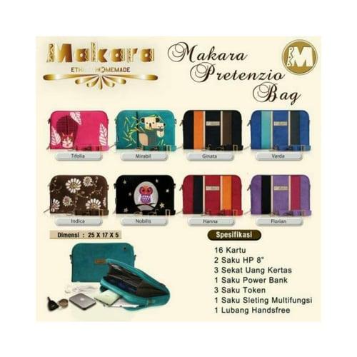 SaShe Store - MAKARA Pretenzio Bag Tas/Dompet Selempang Wanita Muat Tablet 8 Inch & Uang Kertas