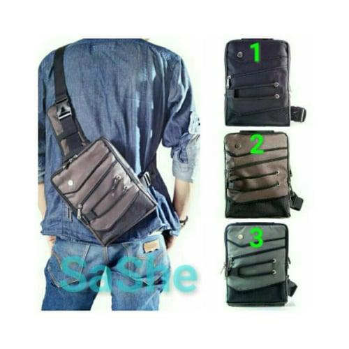 SaShe Store - Gun Bag Hoozler Tas Selempang/Pinggang/Punggung Pria Muat HP 10 Inch, Charger