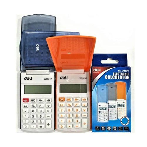 DELI Kalkulator Saku dengan Cover Blue