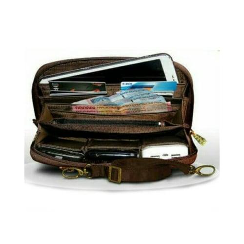 SaShe Store - MAKARA HPO Flat Plain Tas/Dompet Selempang Wanita Muat Tablet 7 Inch, Uang Kertas