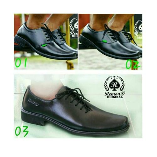 REMOND Sepatu Pantofel Original Black Kode 003
